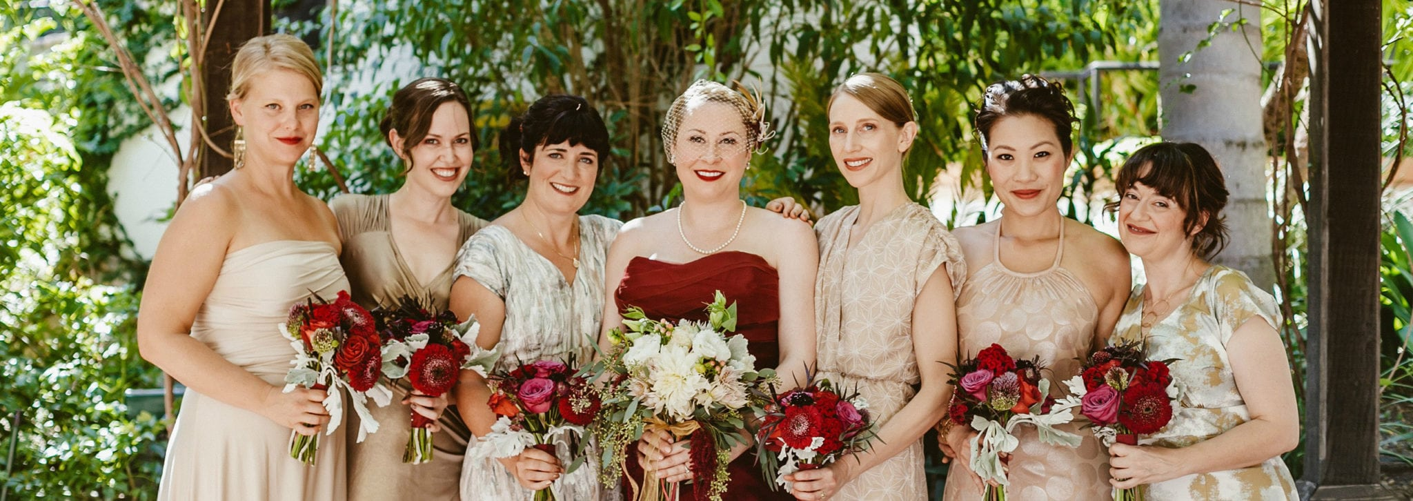 Custom Bride and Bridesmaid Dresses